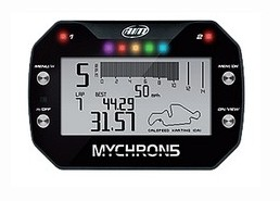 Aim Mychron5 GPS Laptimer with Sensor for Kart Racing, enters a totally new dimension: besides sampling all your kart data, the Mychron5 features all the advantages of a new concept GPS plus a lot of new functions, designed to provide more complete and reliable information