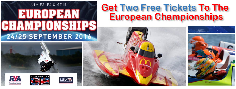 Get Two Free Tickets European Powerboat Championships 24/25th September 2016 at Bedford
