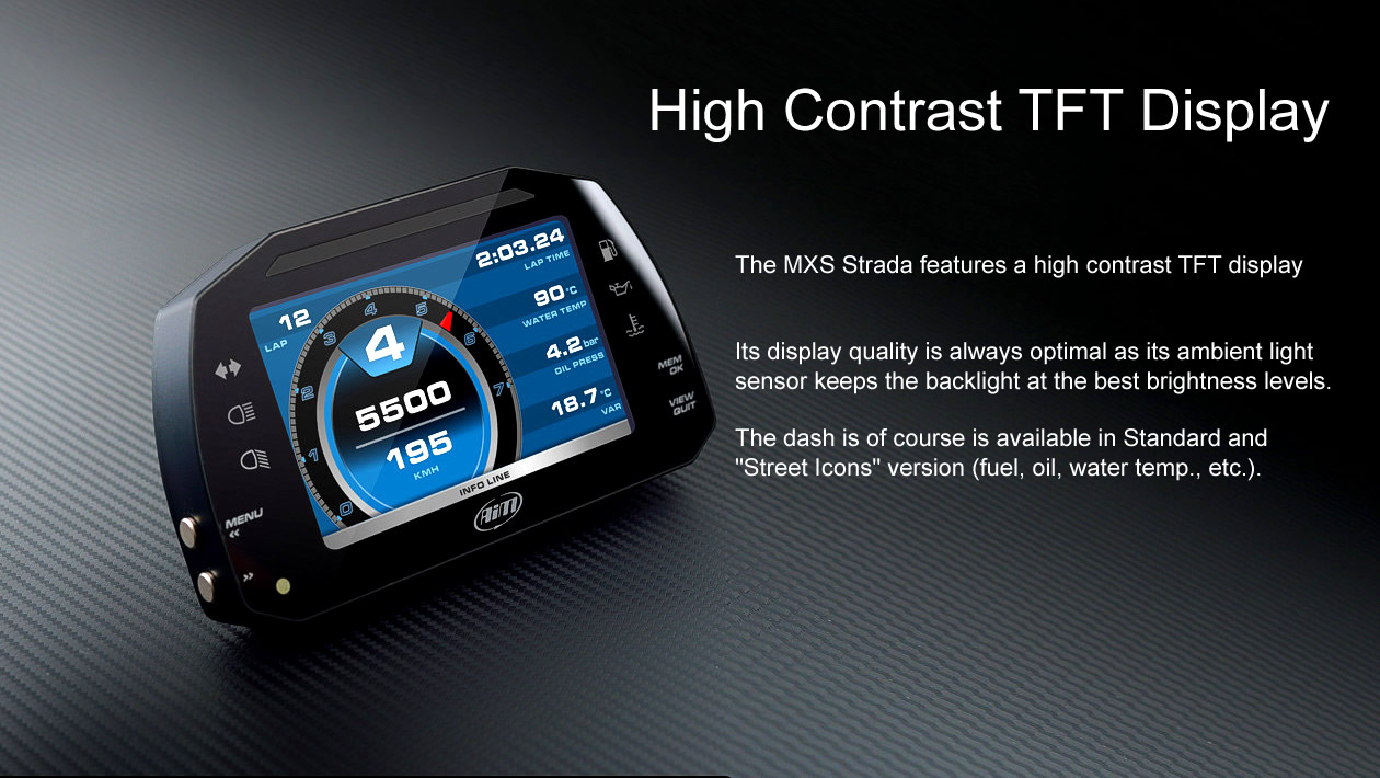 MXS Strada High Contrast TFT display