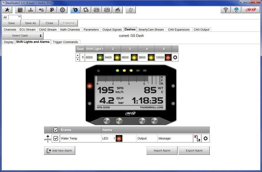 AIM GS DASH Easy configuration