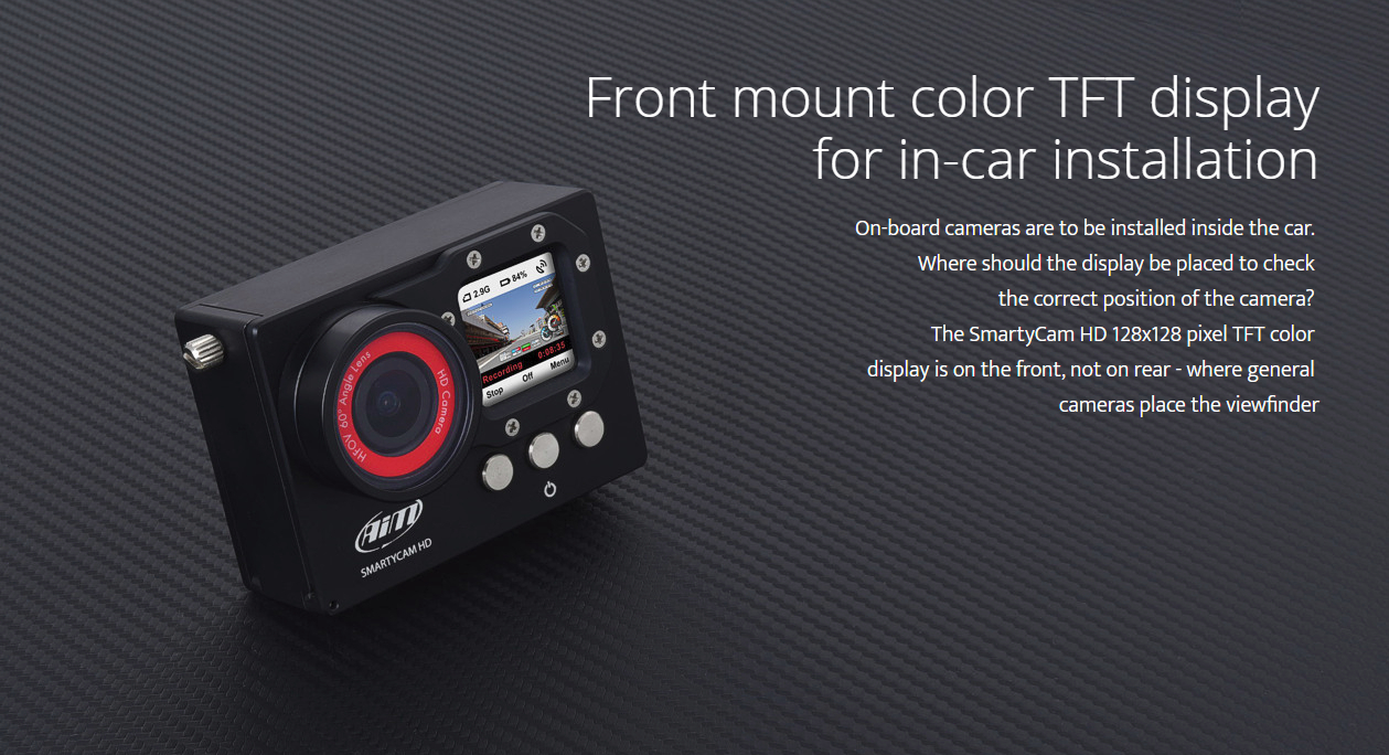 Front mount color TFT display for in-car installation