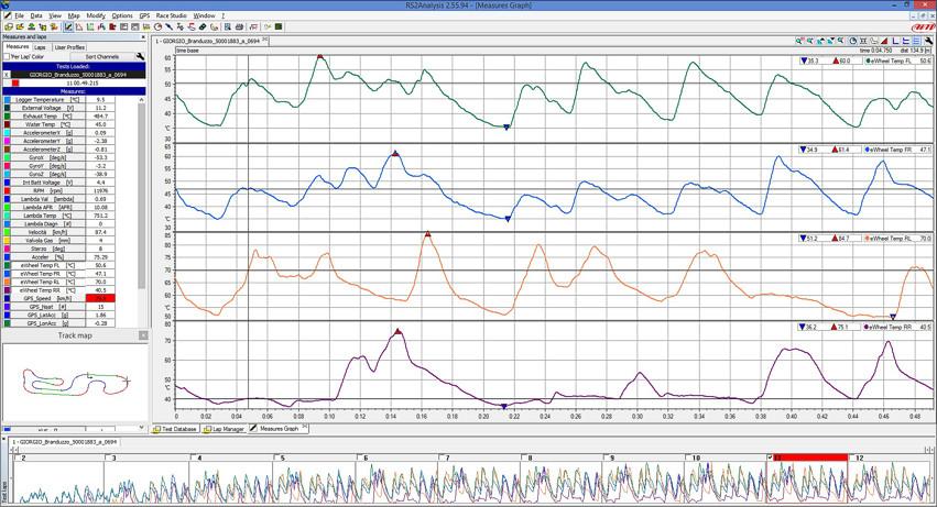 Race Studio Analysis screenshot