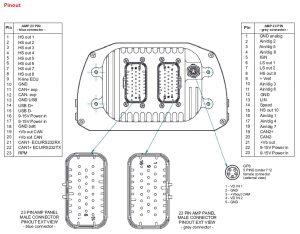 MXsl Technical drawings pinout