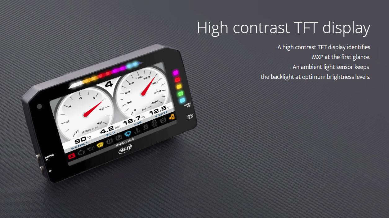 MXS Strada High Contrast TFT display
