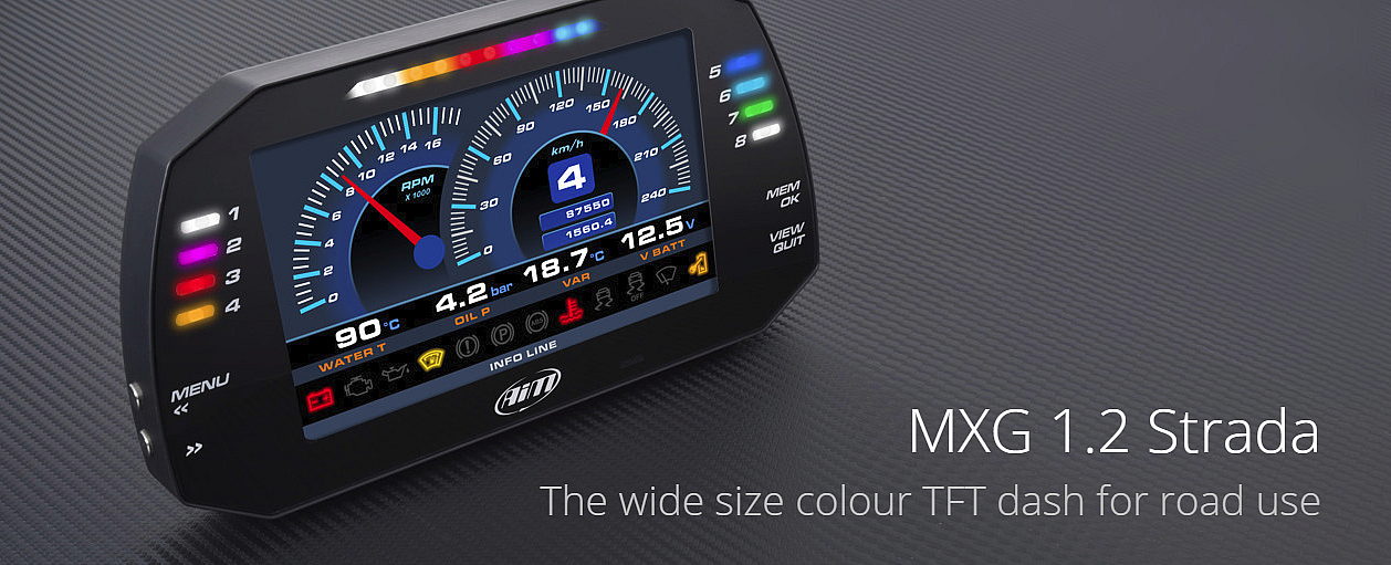 MXG Strada 1.2 Motorcycle Dash Display
